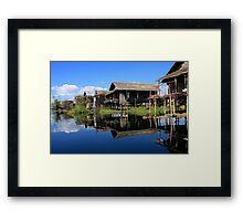 Inle Lake Reflections - Burma Framed Print