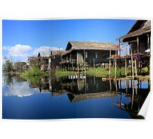 Inle Lake Reflections - Burma Poster