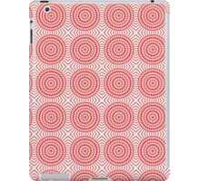 Bright Red Tile Circles With Hints of Green iPad Case/Skin