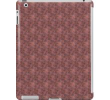 Blue Lacy Trees on Grunge Red iPad Case/Skin
