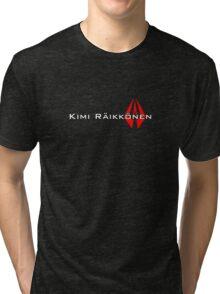 Kimi Raikkonen (Helmet Colours) Tri-blend T-Shirt