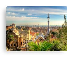 """Parc Guell"" (Barcelona) Canvas Print"
