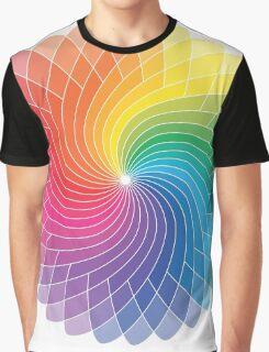 Colour Wheel Flower Graphic T-Shirt