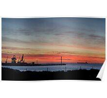 Industrial Ocean Poster