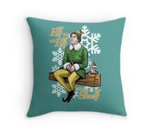 Elf on an Elf on a Shelf Throw Pillow
