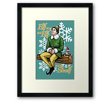 Elf on an Elf on a Shelf Framed Print