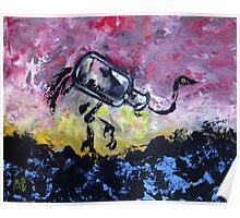 Jar Ostrich Poster