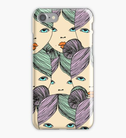 Psychedelic Girl iPhone Case/Skin