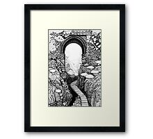 Lydford Gorge - Fantasy Version Framed Print