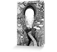 Lydford Gorge - Fantasy Version Greeting Card