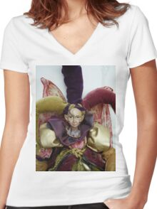 Iwiki Doll Women's Fitted V-Neck T-Shirt