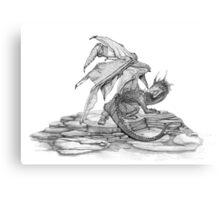 Scaly Dragon Canvas Print