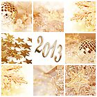 2013, gold decoration collage by Delphimages