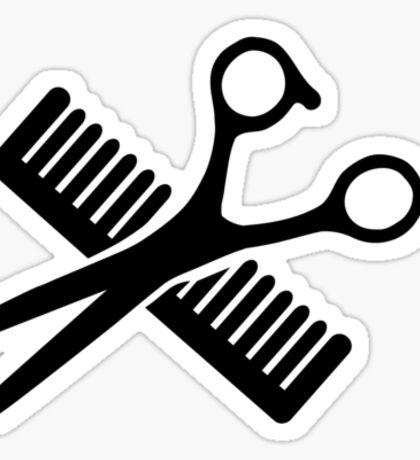 Comb & Scissors Sticker