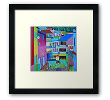 View of the square, Monchique Framed Print