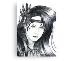 Amazon Warrior (cropped edge version) Canvas Print