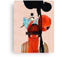 girl with one eye Canvas Print