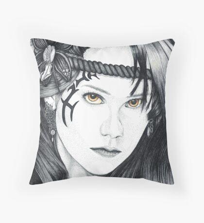 Amazon Warrior (square version) Throw Pillow