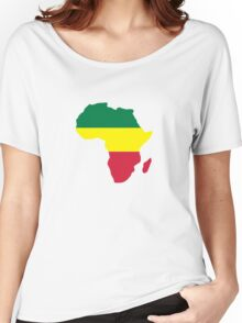 Africa map reggae Women's Relaxed Fit T-Shirt
