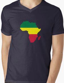 Africa map reggae Mens V-Neck T-Shirt