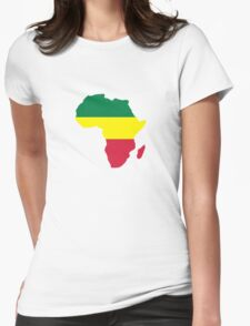 Africa map reggae Womens Fitted T-Shirt