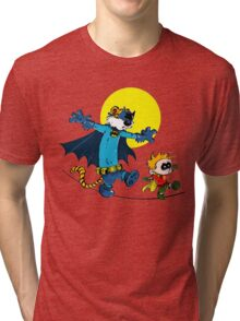Funny Batman And Robin Tri-blend T-Shirt