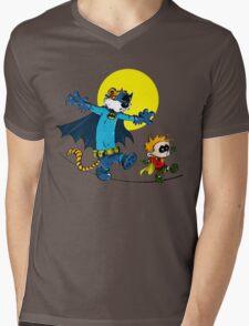 Funny Batman And Robin Mens V-Neck T-Shirt