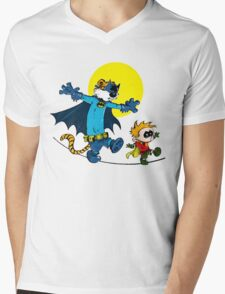 Funny Batman And Robin Mens V-Neck T-Shirt