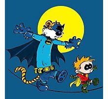 Funny Batman And Robin Photographic Print