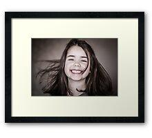 Girl smile Framed Print