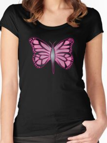 Butterfly Barbie Women's Fitted Scoop T-Shirt
