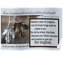 Seek His Kingdom ~ Luke 12 Poster