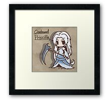 Cross breed priscilla Chibi version Framed Print