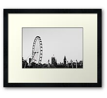 a Contrast in London  Framed Print