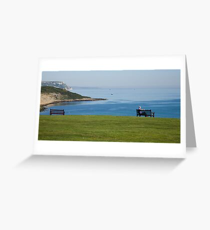 Jurassic coast view Greeting Card