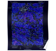 USGS TOPO Map New Hampshire NH Exeter 329556 1950 24000 Inverted Poster
