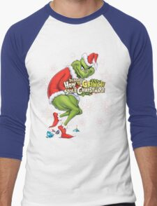 Grinch Christmas Men's Baseball ¾ T-Shirt