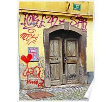 Graffiti, Ljubljana, Slovenia Poster