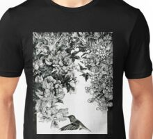 Flowers and Colibri Unisex T-Shirt