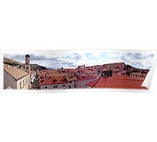 Overlooking Dubrovnik, Croatia Poster