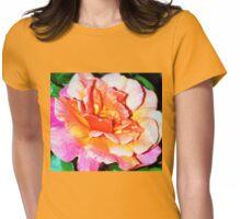 Rain splattered rose Womens Fitted T-Shirt
