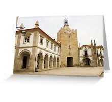 The clock tower in Caminha Greeting Card