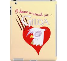 I have a crush on... Gilda - with text iPad Case/Skin