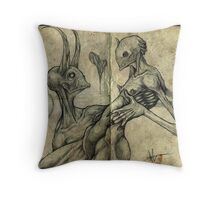 I'll burn in hell for you, my love Throw Pillow