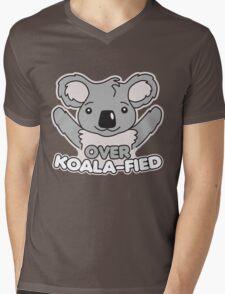 Over Koala-Fied Mens V-Neck T-Shirt