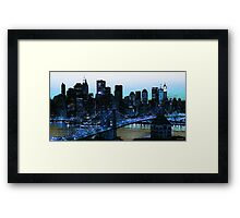 New York City - The Big Apple Framed Print