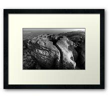 Frying Pan Rock Framed Print