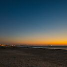 sunset at Caesarea  by Ronsho