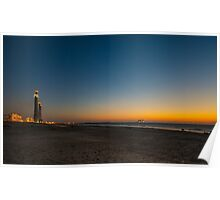 sunset at Caesarea  Poster