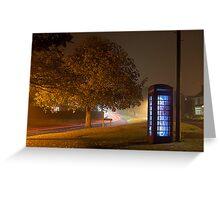 Glowing Phone Box Greeting Card
